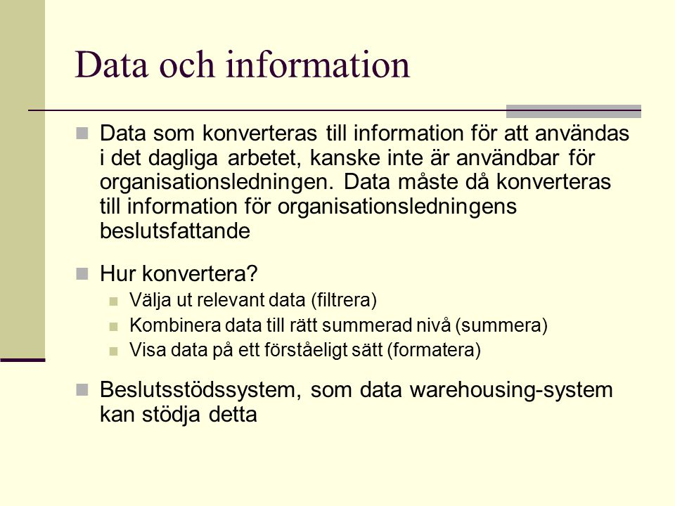 Data och information