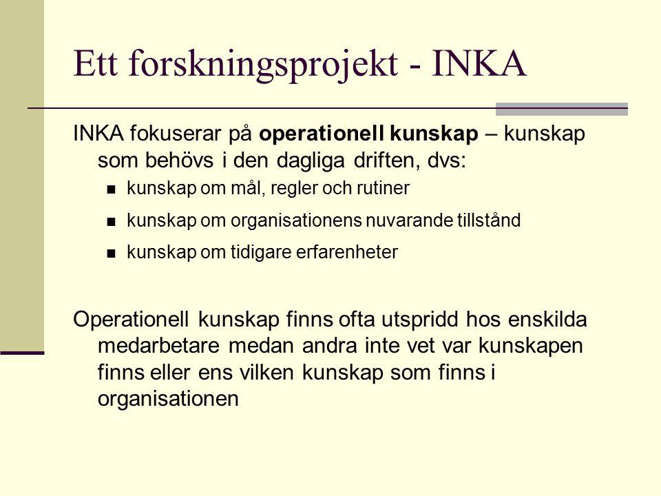 Ett forskningsprojekt - INKA
