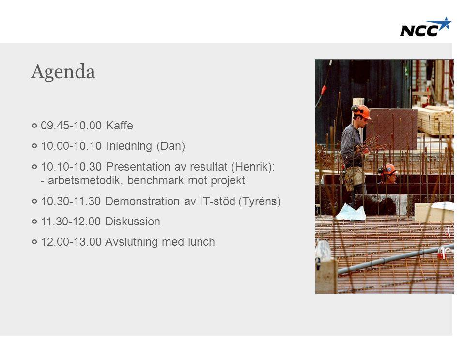 Agenda 09.45-10.00 Kaffe 10.00-10.10 Inledning (Dan)