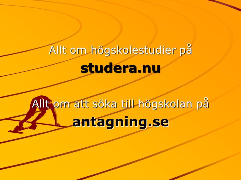 studera.nu antagning.se