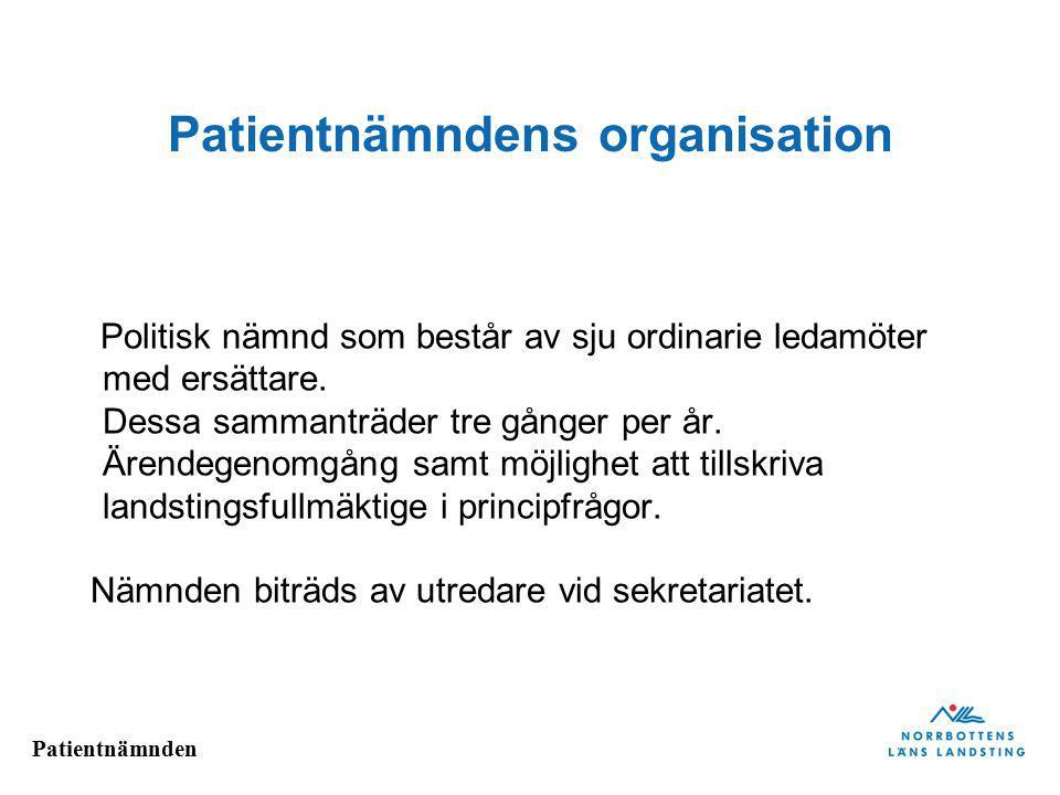 Patientnämndens organisation
