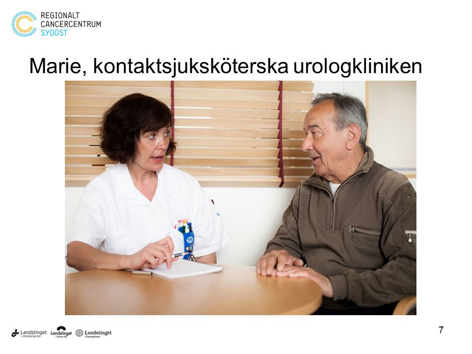 Marie, kontaktsjuksköterska urologkliniken