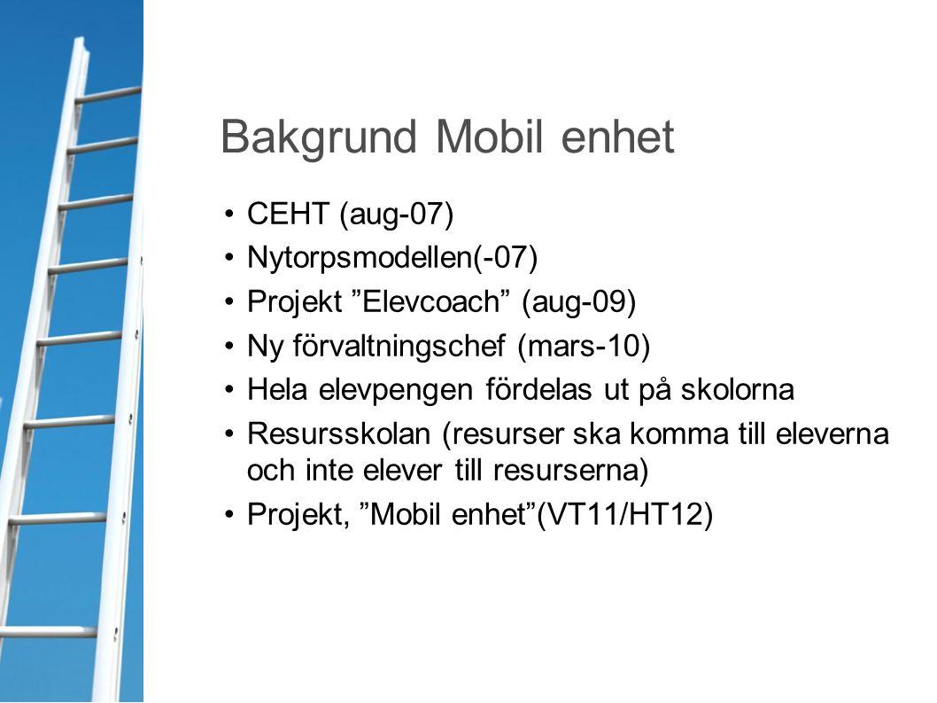 Bakgrund Mobil enhet CEHT (aug-07) Nytorpsmodellen(-07)