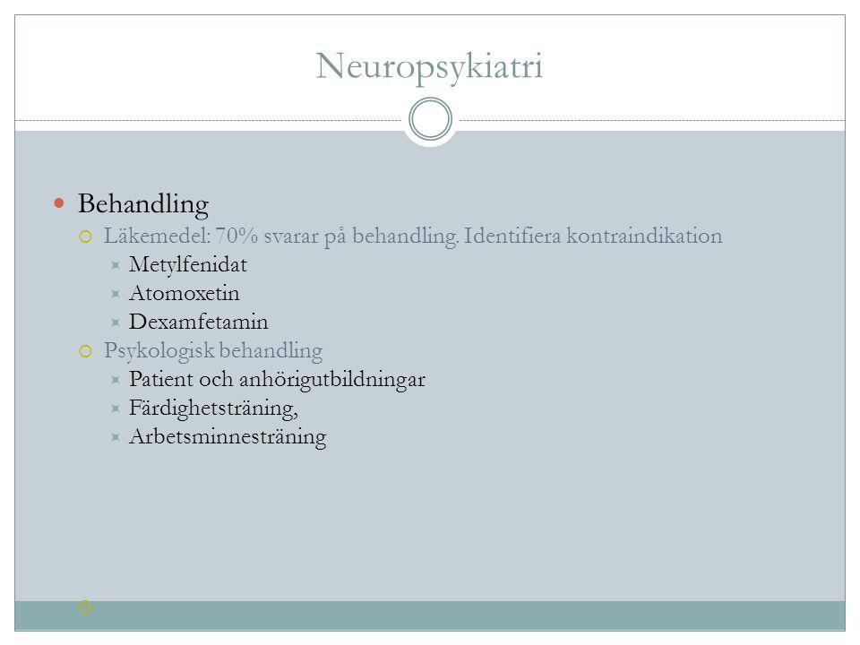 Neuropsykiatri Behandling