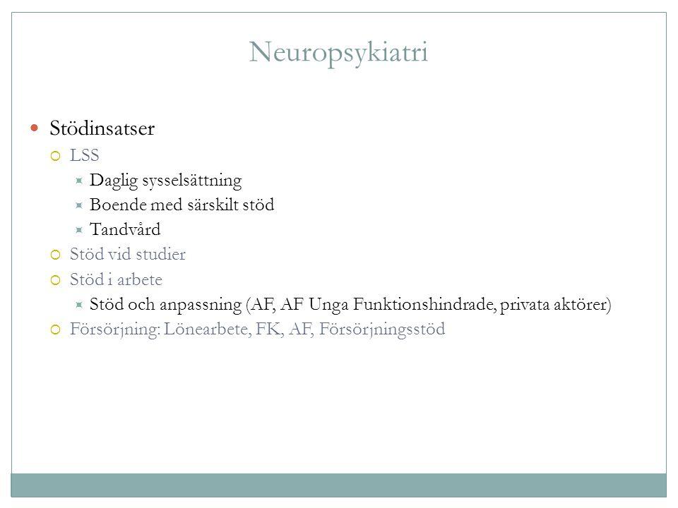 Neuropsykiatri Stödinsatser LSS Daglig sysselsättning