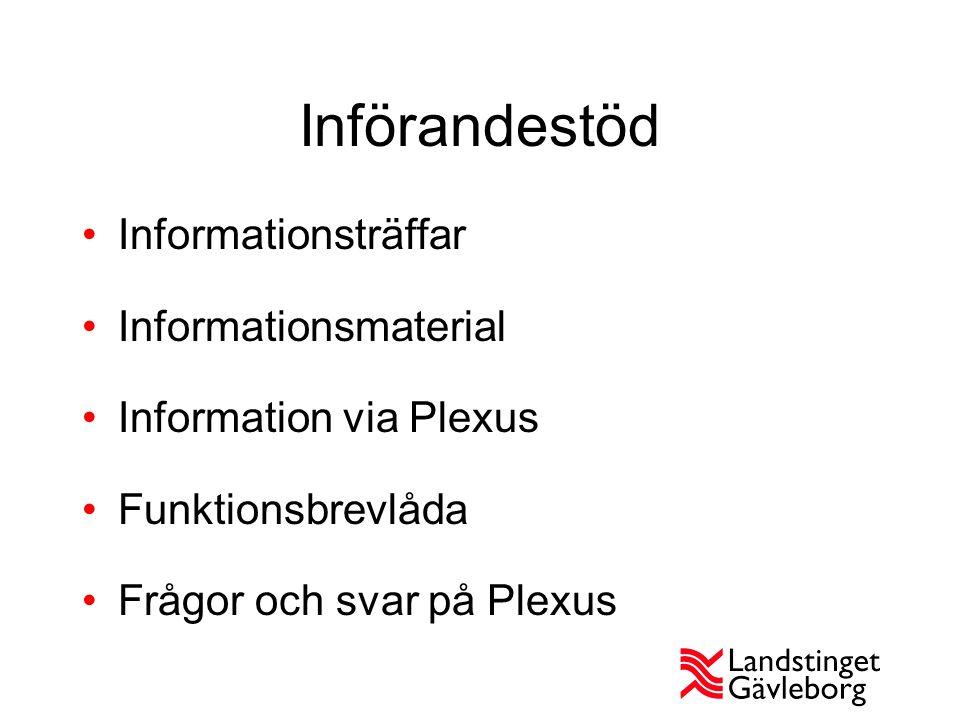 Införandestöd Informationsträffar Informationsmaterial