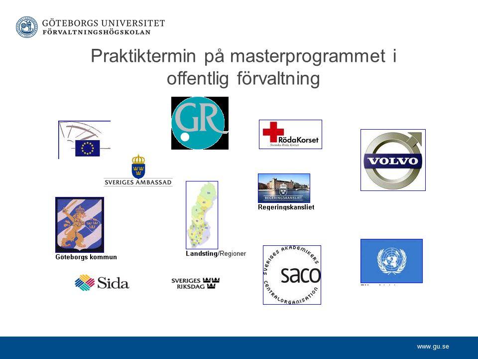 Praktiktermin på masterprogrammet i offentlig förvaltning