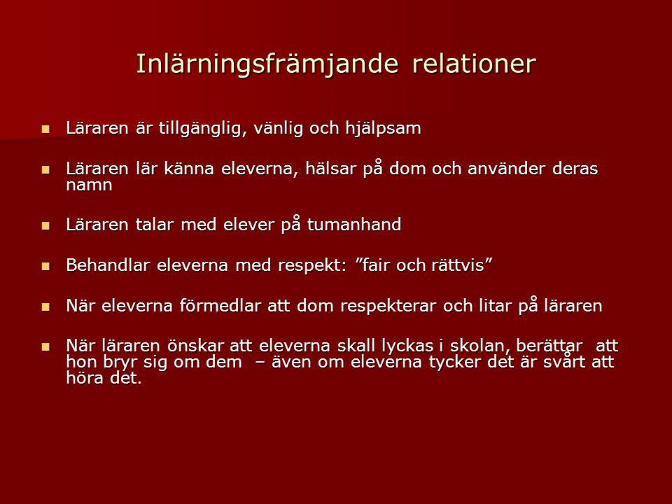 Inlärningsfrämjande relationer