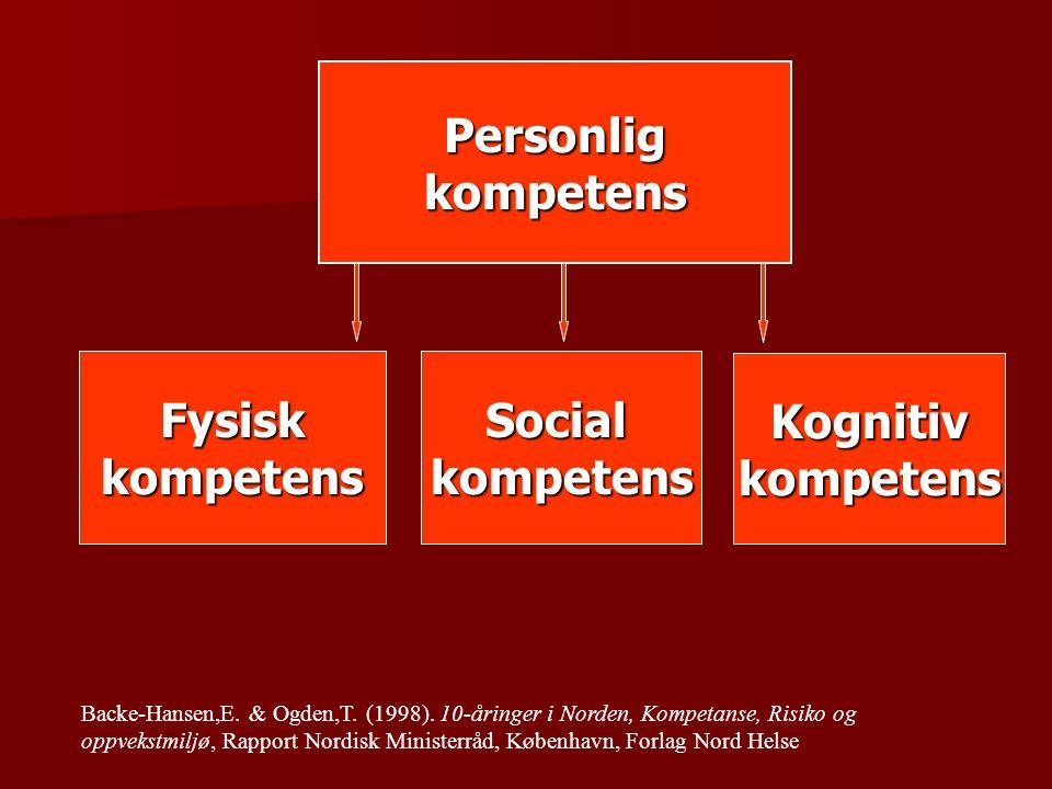 Personlig kompetens Fysisk kompetens Social kompetens Kognitiv