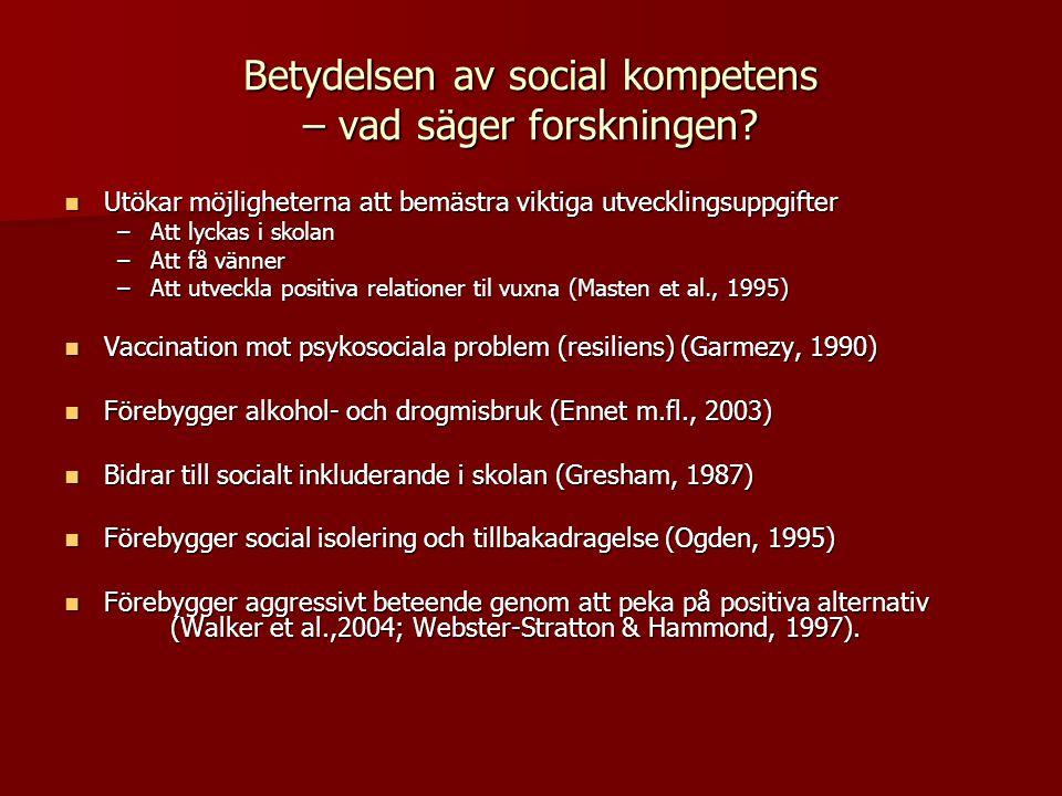 Betydelsen av social kompetens – vad säger forskningen