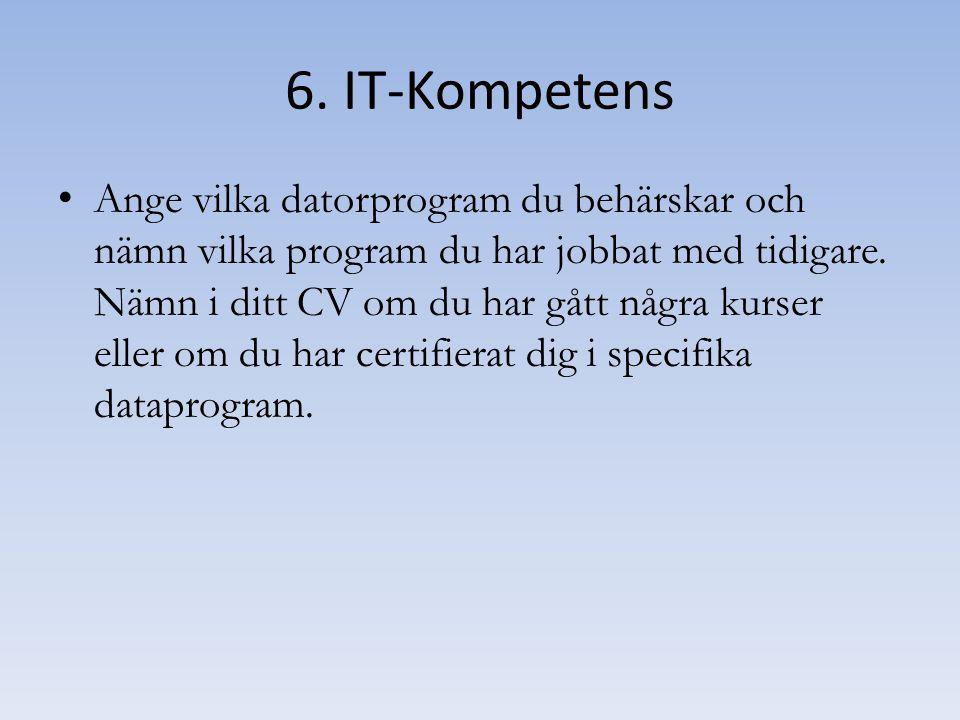 6. IT-Kompetens
