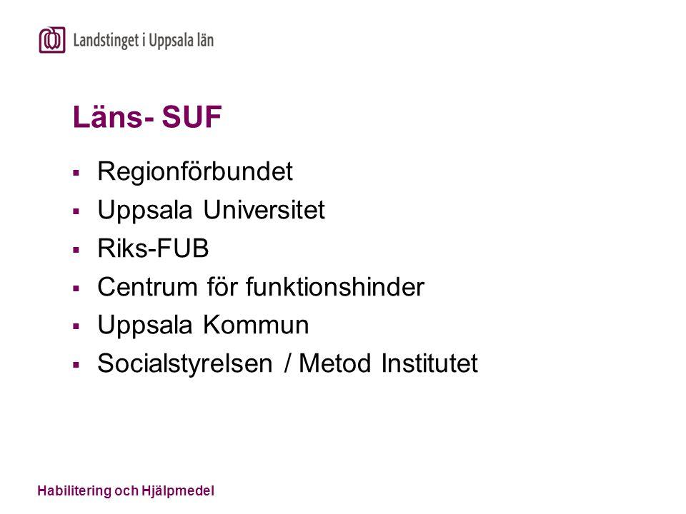 Läns- SUF Regionförbundet Uppsala Universitet Riks-FUB