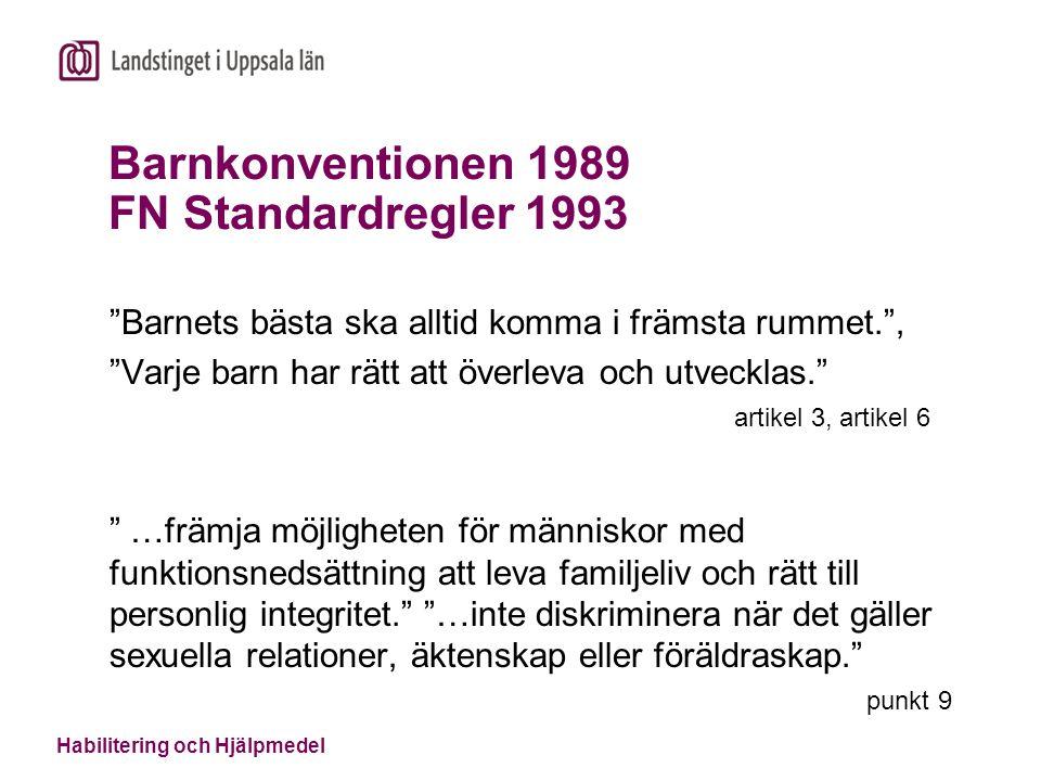 Barnkonventionen 1989 FN Standardregler 1993