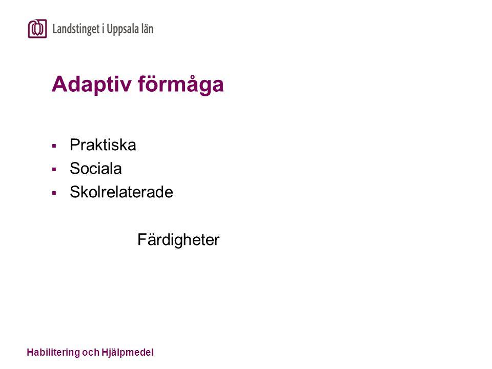 Adaptiv förmåga Praktiska Sociala Skolrelaterade Färdigheter