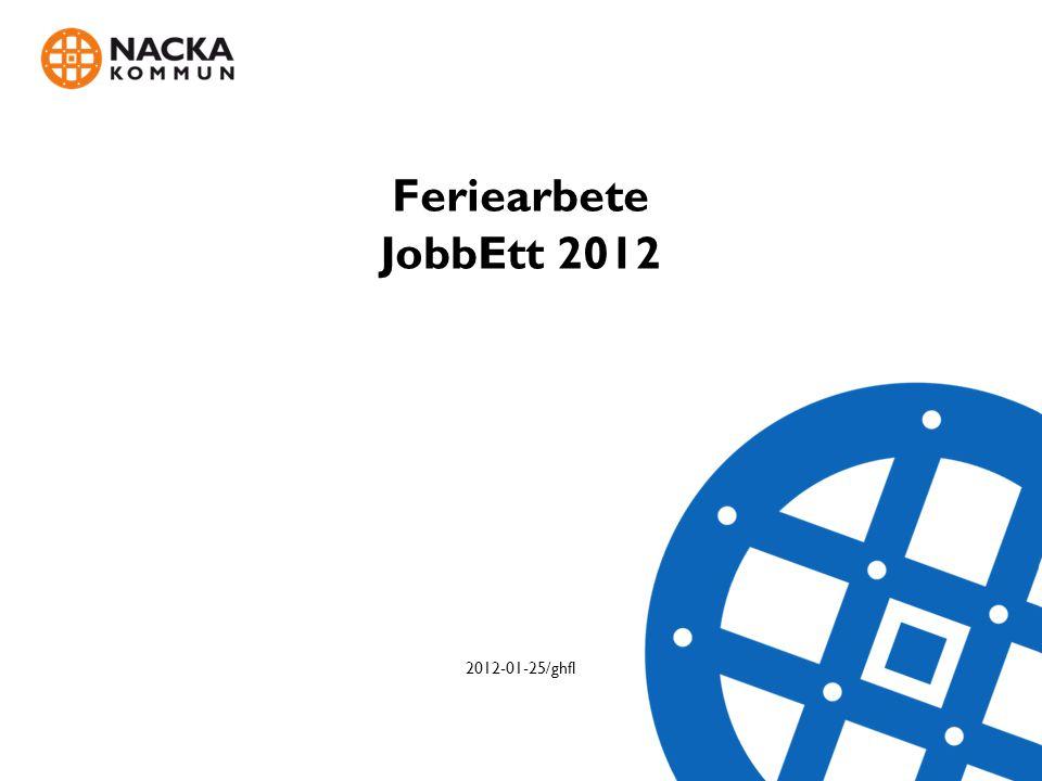 Feriearbete JobbEtt 2012 2012-01-25/ghfl