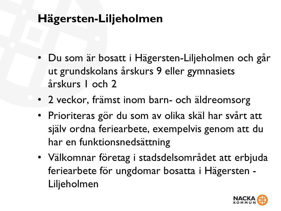 Hägersten-Liljeholmen