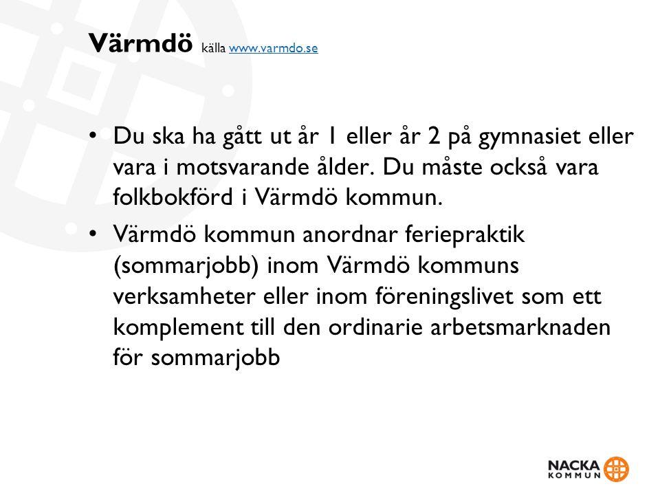 Värmdö källa www.varmdo.se
