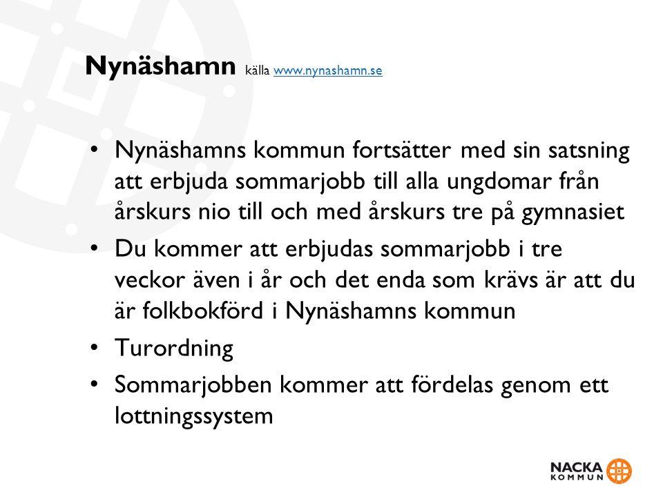 Nynäshamn källa www.nynashamn.se