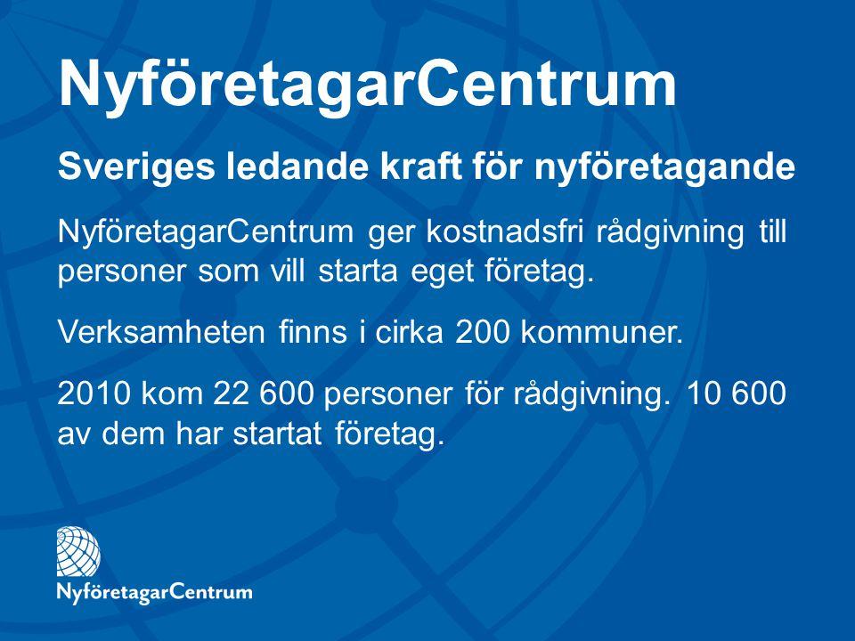 NyföretagarCentrum Sveriges ledande kraft för nyföretagande