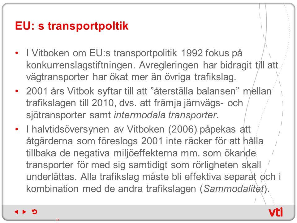 EU: s transportpoltik