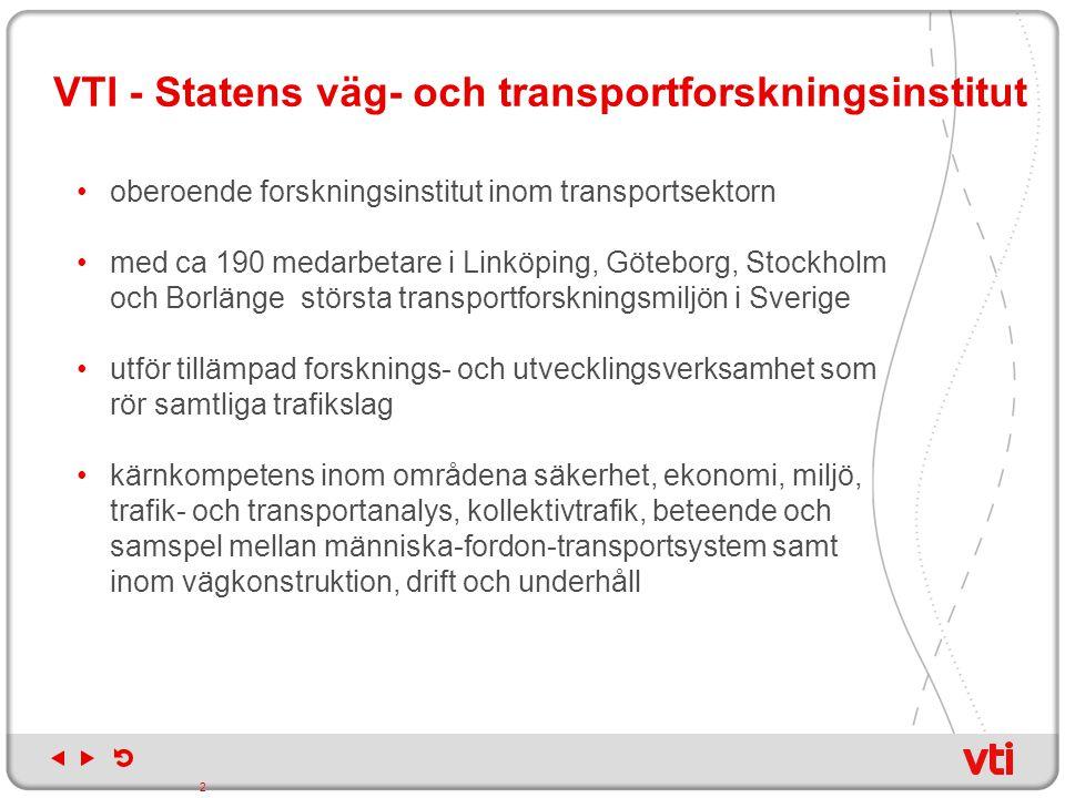 VTI - Statens väg- och transportforskningsinstitut