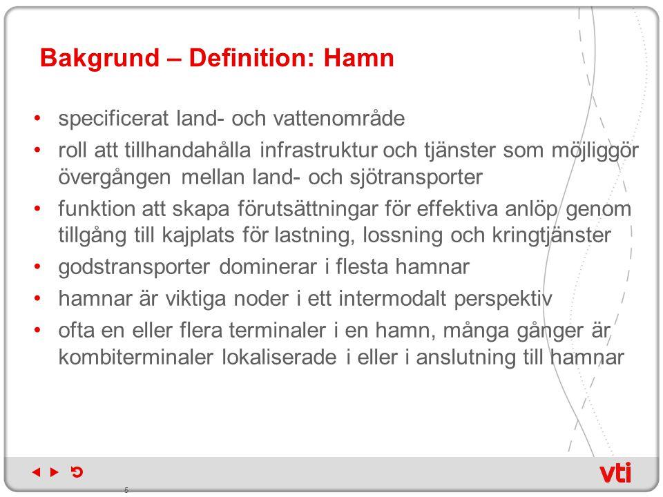 Bakgrund – Definition: Hamn