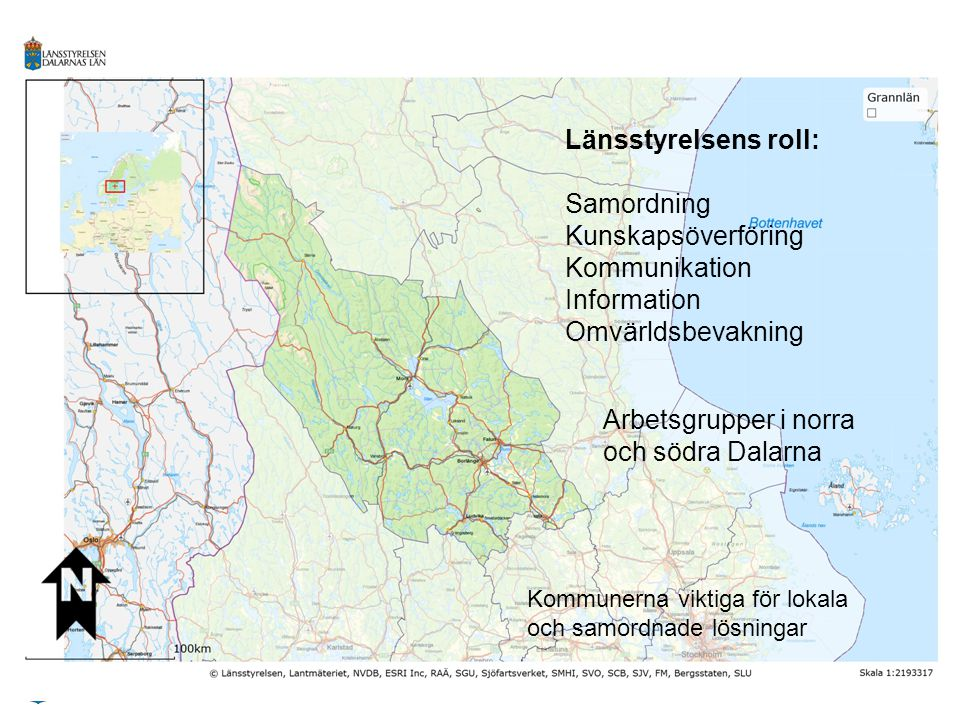 Arbetsgrupper i norra och södra Dalarna