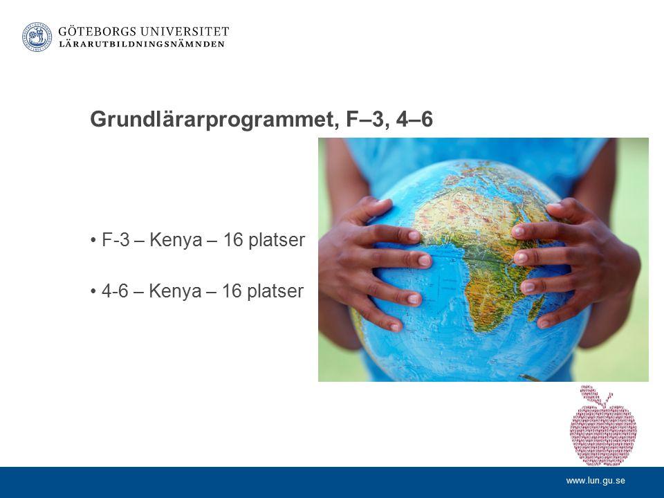 Grundlärarprogrammet, F–3, 4–6