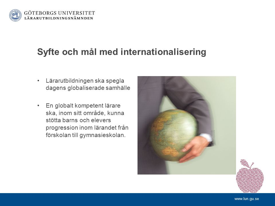 Syfte och mål med internationalisering