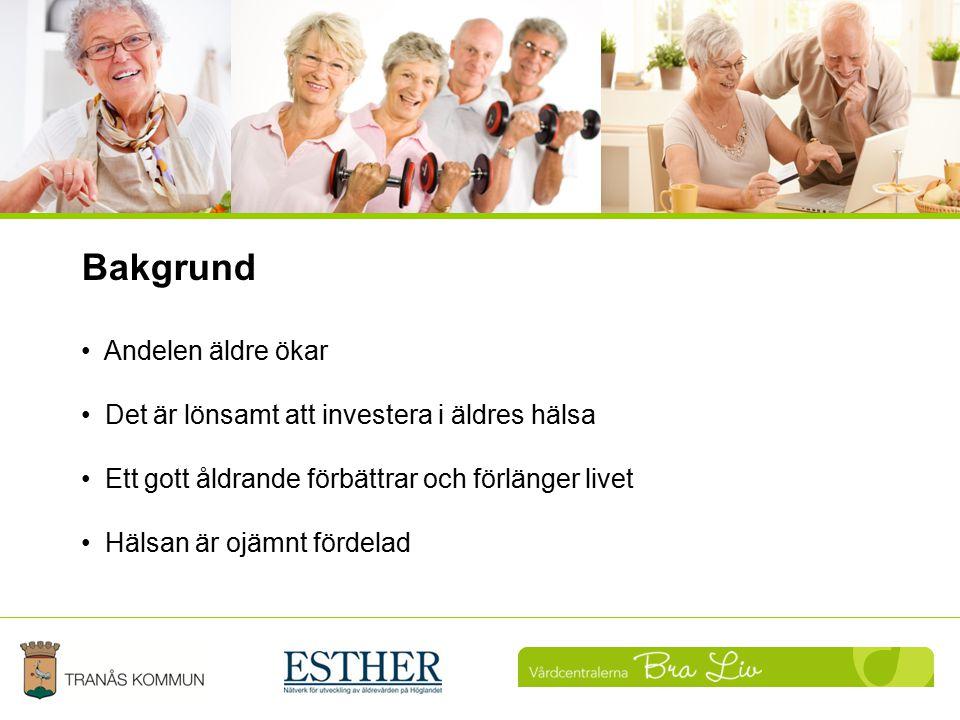Uppföljning Bakgrund Andelen äldre ökar