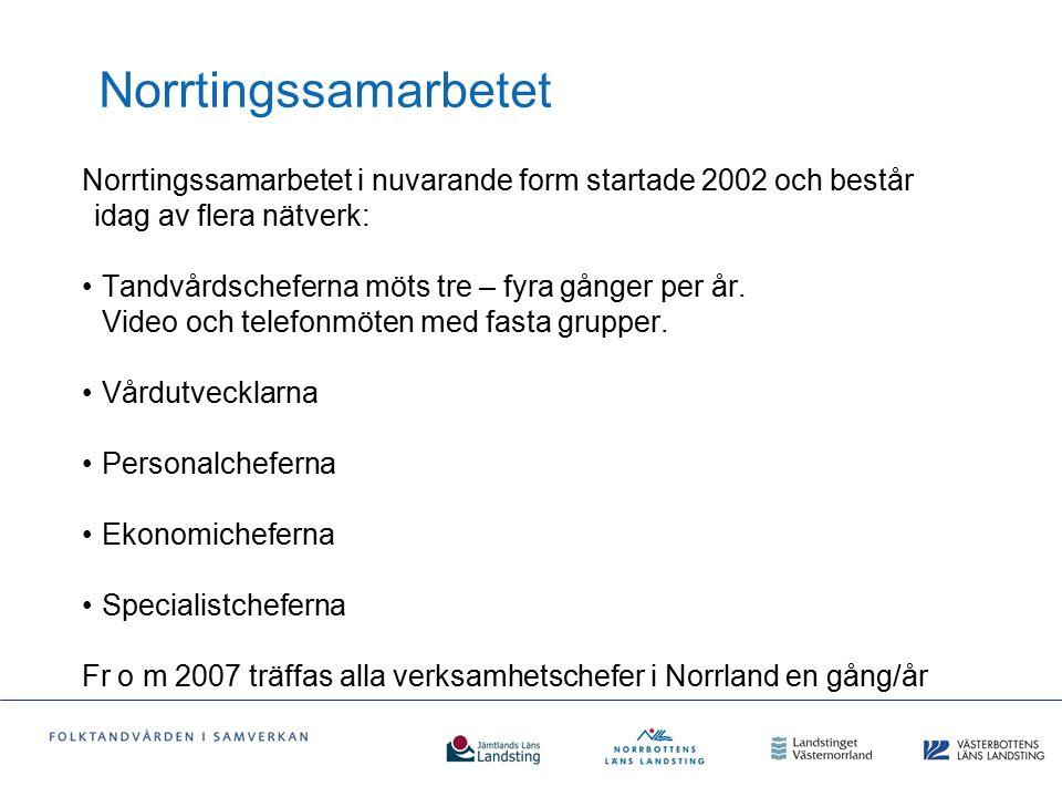 Norrtingssamarbetet Norrtingssamarbetet i nuvarande form startade 2002 och består idag av flera nätverk: