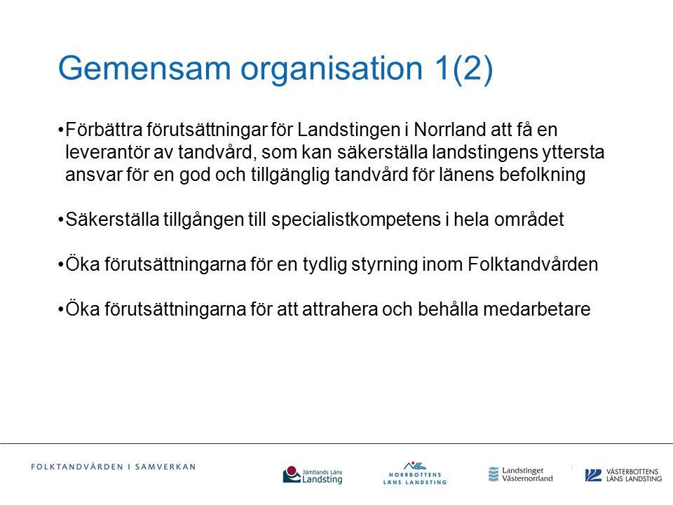 Gemensam organisation 1(2)
