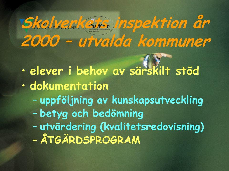 Skolverkets inspektion år 2000 – utvalda kommuner