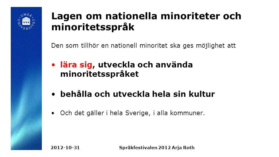 Lagen om nationella minoriteter och minoritetsspråk