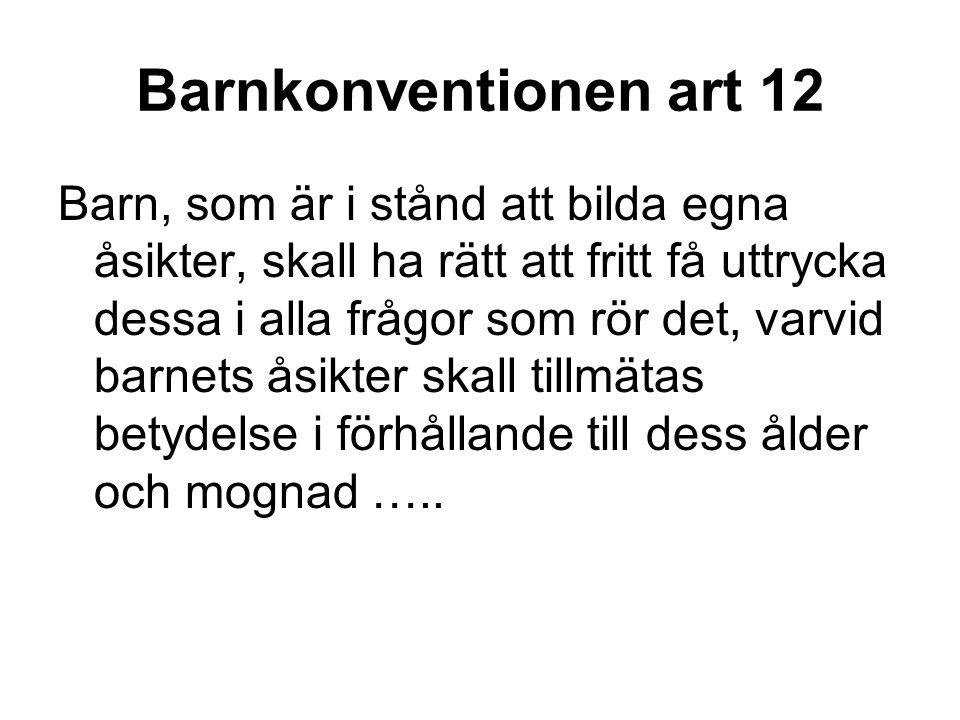 Barnkonventionen art 12
