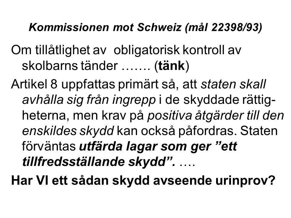 Kommissionen mot Schweiz (mål 22398/93)
