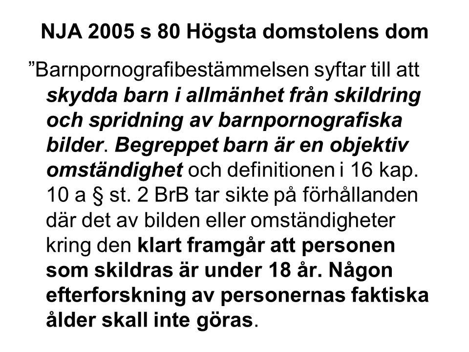 NJA 2005 s 80 Högsta domstolens dom