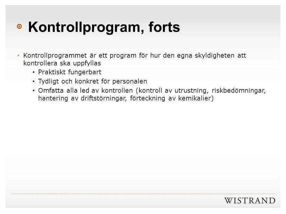 Kontrollprogram, forts