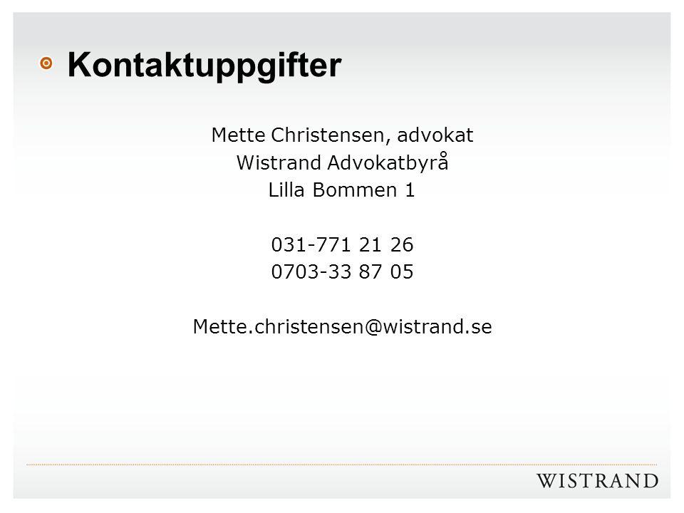 Mette Christensen, advokat