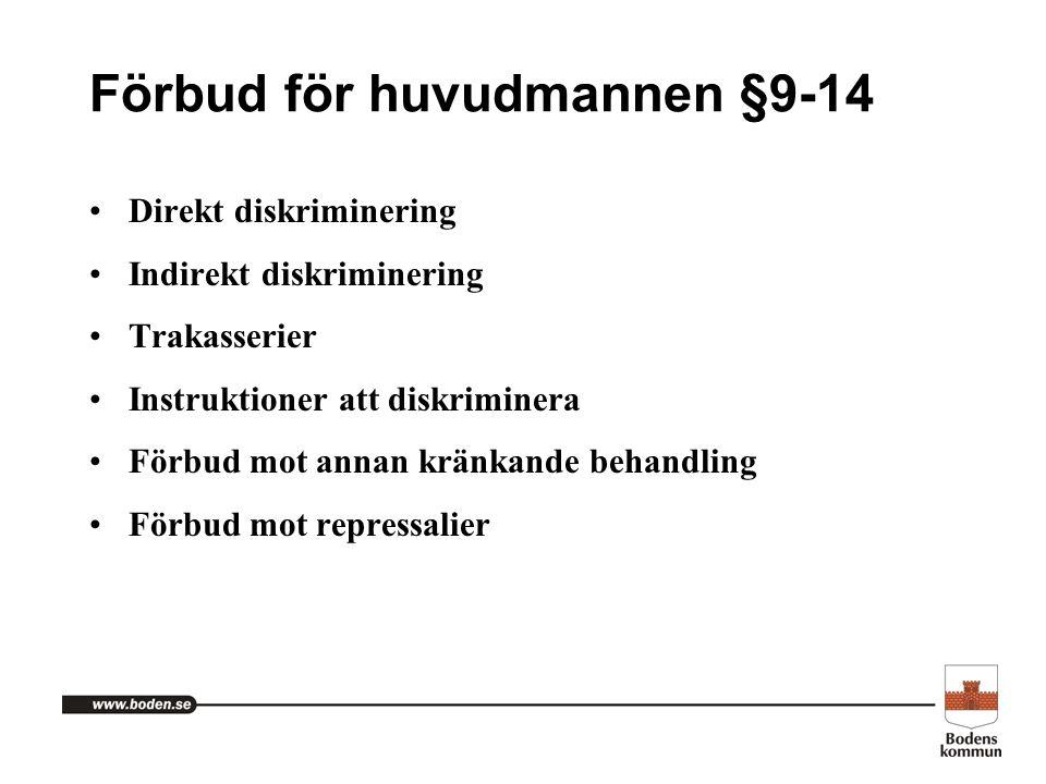 Förbud för huvudmannen §9-14