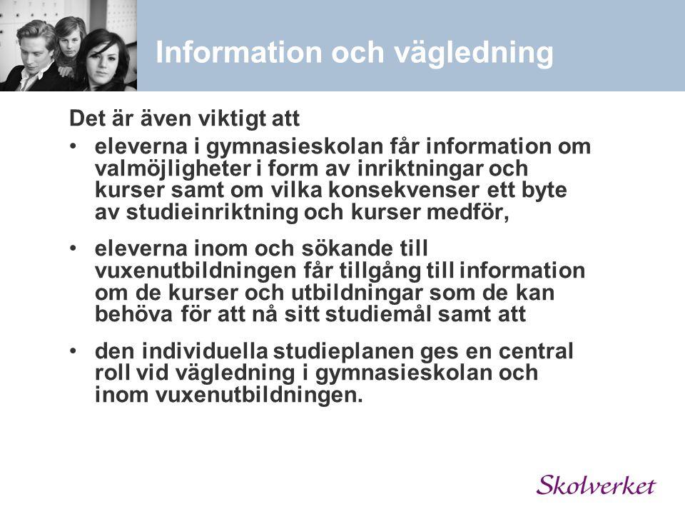 Information och vägledning