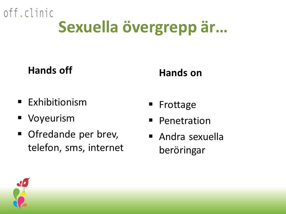 Sexuella övergrepp är…