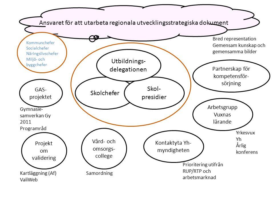 Ansvaret för att utarbeta regionala utvecklingsstrategiska dokument