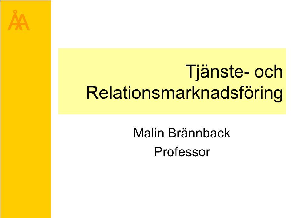 Tjänste- och Relationsmarknadsföring