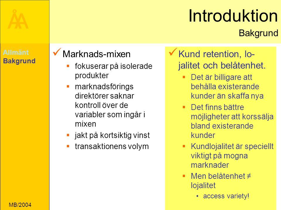 Introduktion Bakgrund