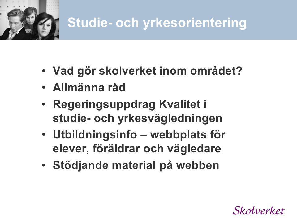Studie- och yrkesorientering