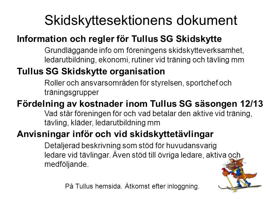 Skidskyttesektionens dokument