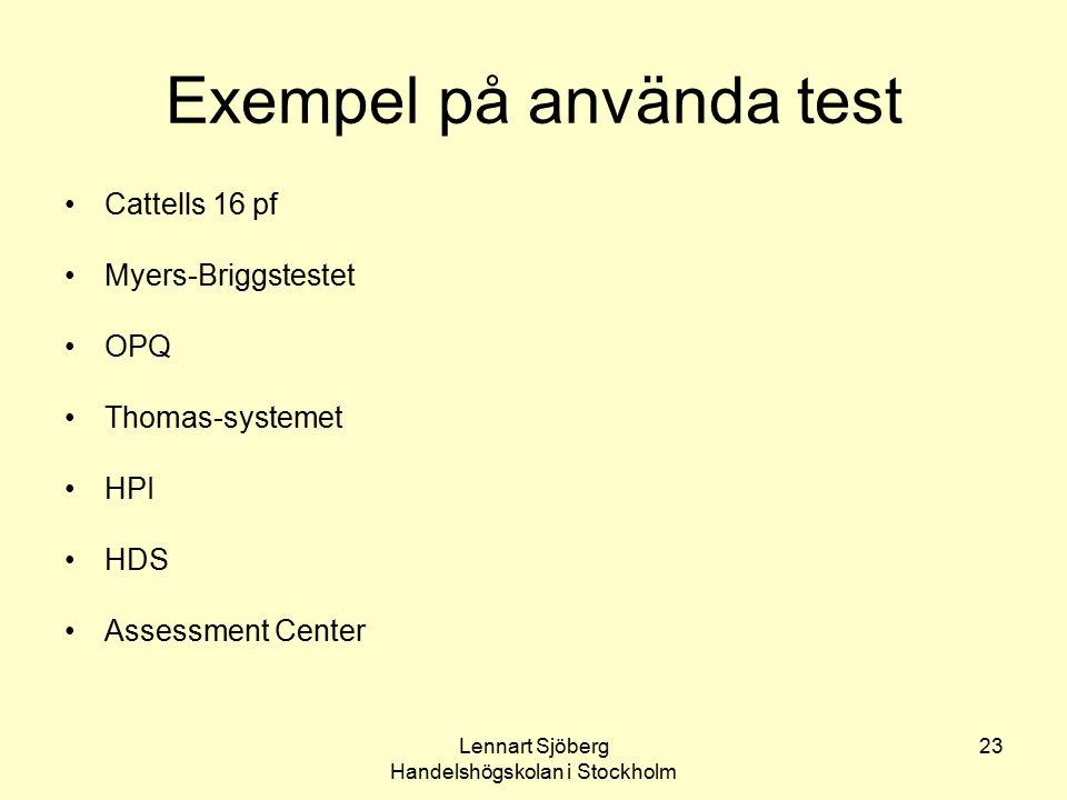 Exempel på använda test