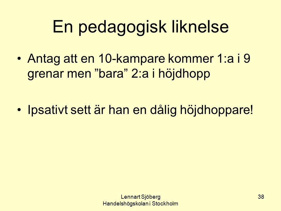 En pedagogisk liknelse