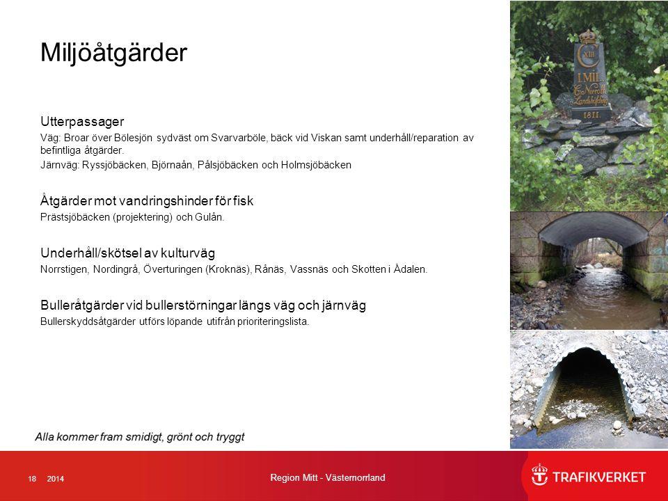 Miljöåtgärder Utterpassager Åtgärder mot vandringshinder för fisk